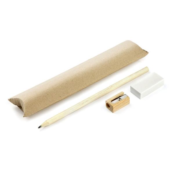 Komplet EKO (ołówek, gumka, temperówka)