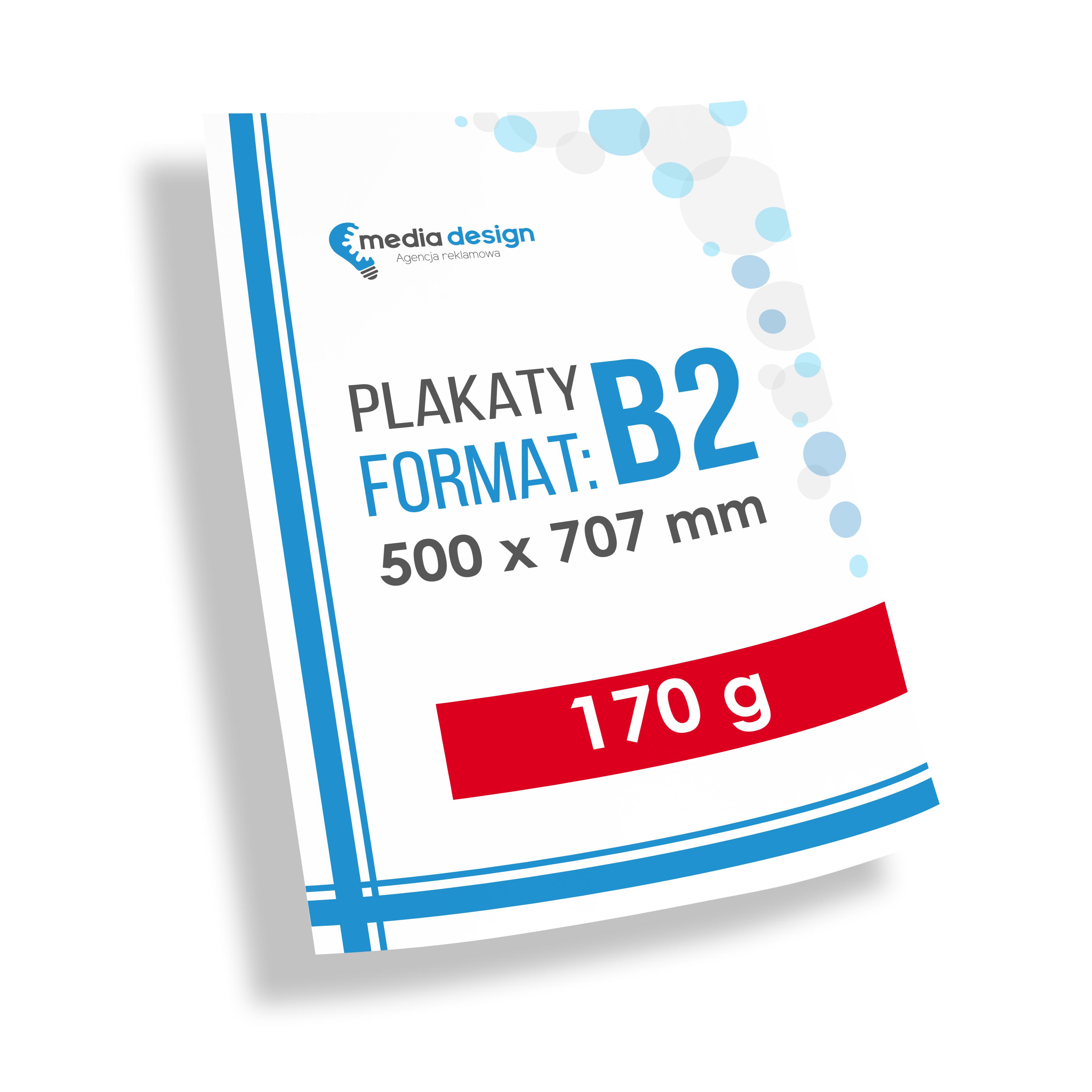 Plakaty B2 (500x707 mm) - 170g