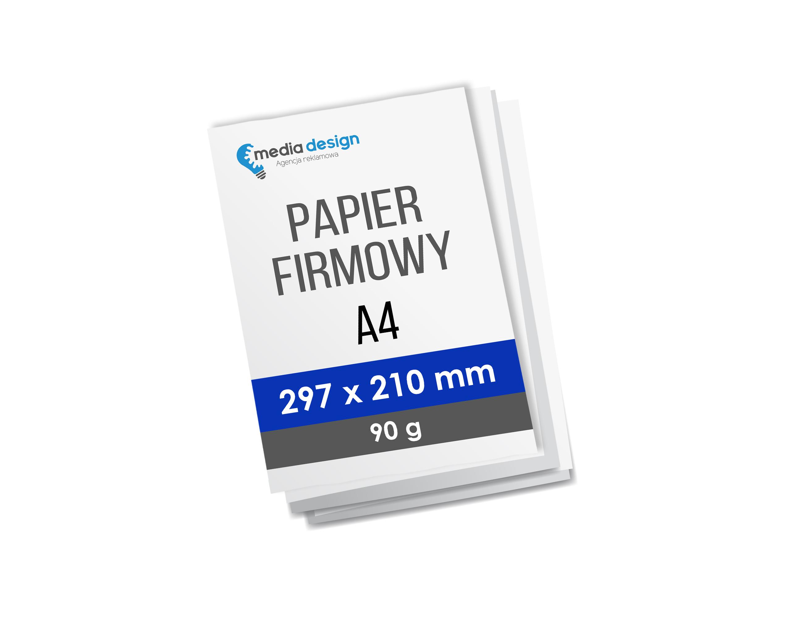 Papier firmowy A4 (210x297 mm) - 90g 250 sztuk