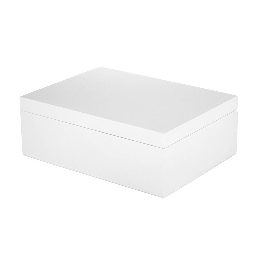 Herbaciarka pudełko na herbatę niezbędnik Biała
