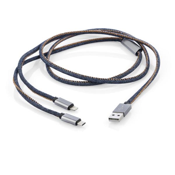 Kabel USB 2 w 1 JEANS