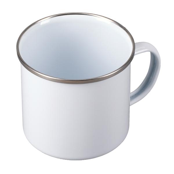 Kubek emaliowany Oldie 500 ml, biały