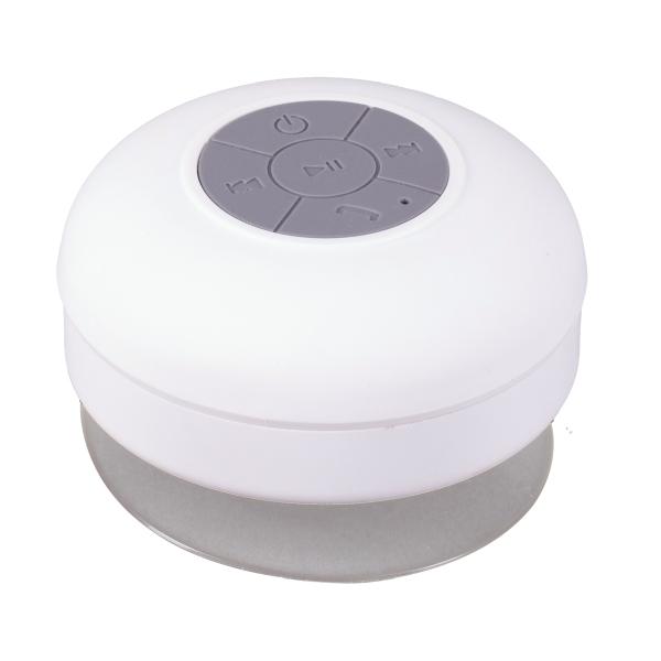 Głośnik z przyssawką Watertight, biały