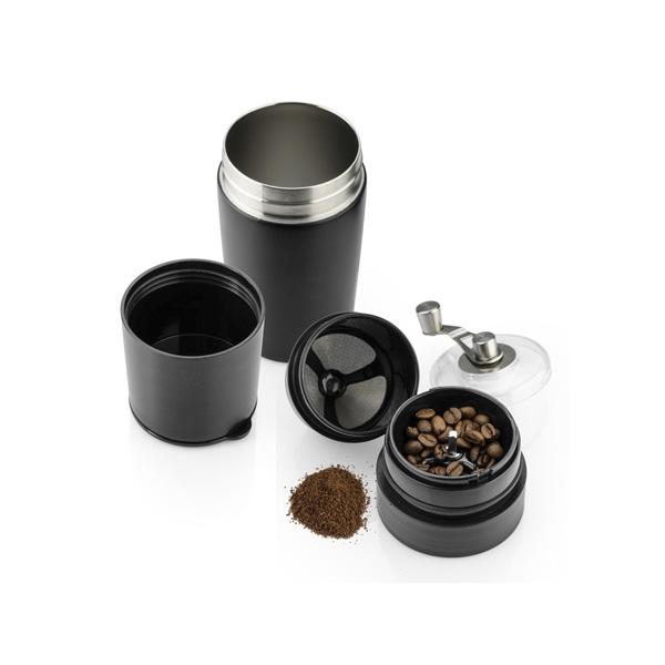 Kubek termiczny z młynkiem do kawy COLUMBIA 360 ml