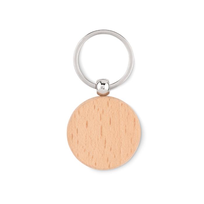 Okrągły drewniany brelok