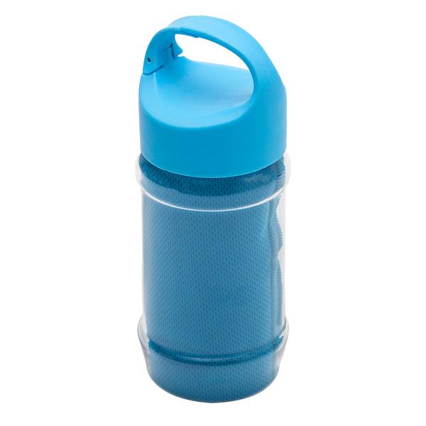 Ręcznik chłodzący w butelce Feel Like New, niebieski