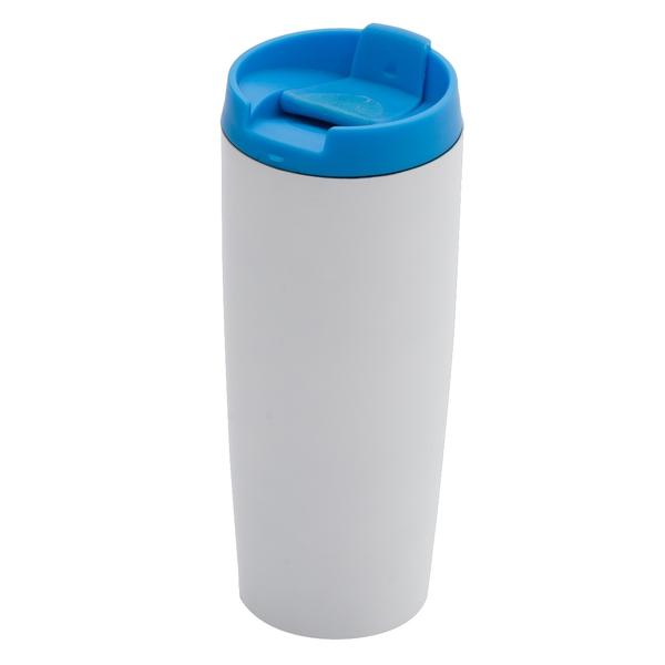 Kubek izotermiczny Fresvik 390 ml, niebieski/biały
