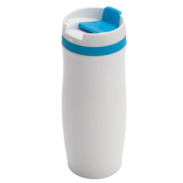 Kubek izotermiczny Viki 390 ml, czarny/biały