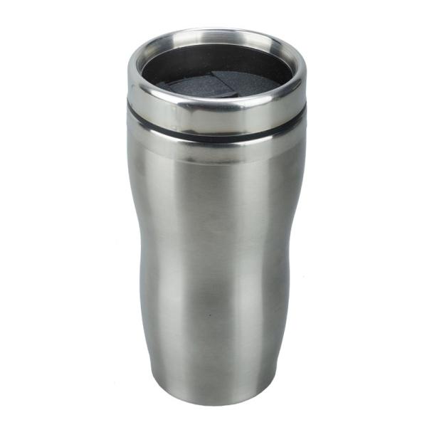 Kubek izotermiczny Sudbury 380 ml, srebrny/czarny