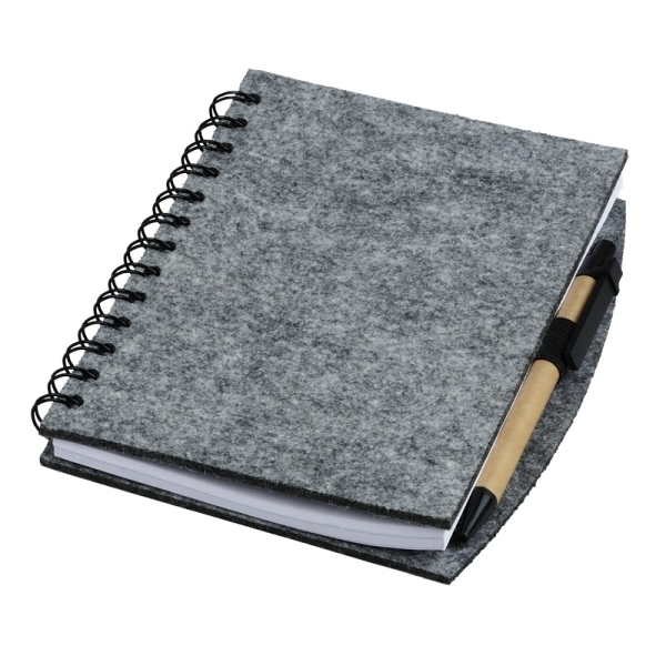 Notes z filcu Eco-Sense, szary