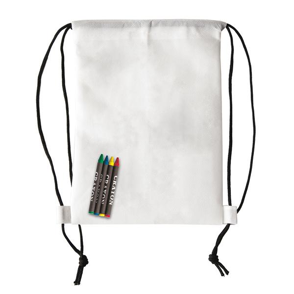Plecak z kredkami Crayonme, biały