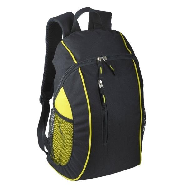 Plecak sportowy Garland, czarny/żółty