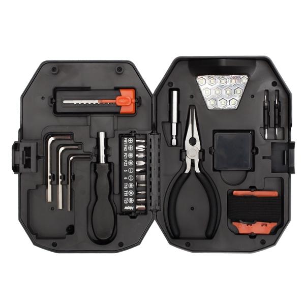 Zestaw narzędzi Smart DIY, czarny/czerwony