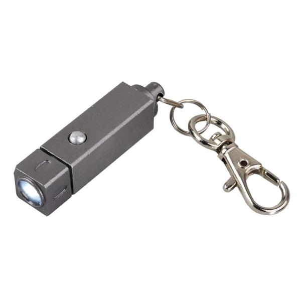 Brelok latarka LED Muscle, grafitowy