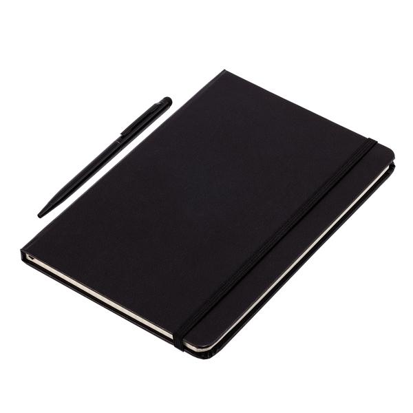 Zestaw notes z długopisem, czarny