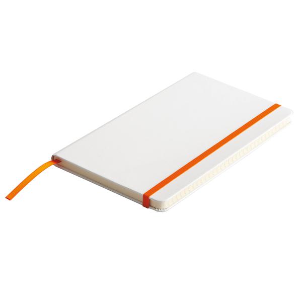 Notatnik Carmona 130x210/80k linia, niebieski/biały