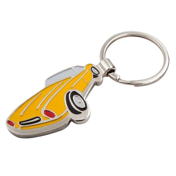 Brelok metalowy Sports Car, żółty