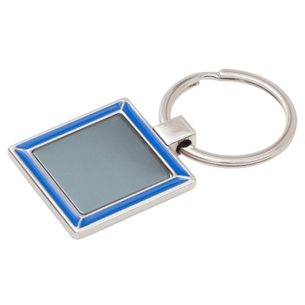 Brelok Frame, niebieski/srebrny