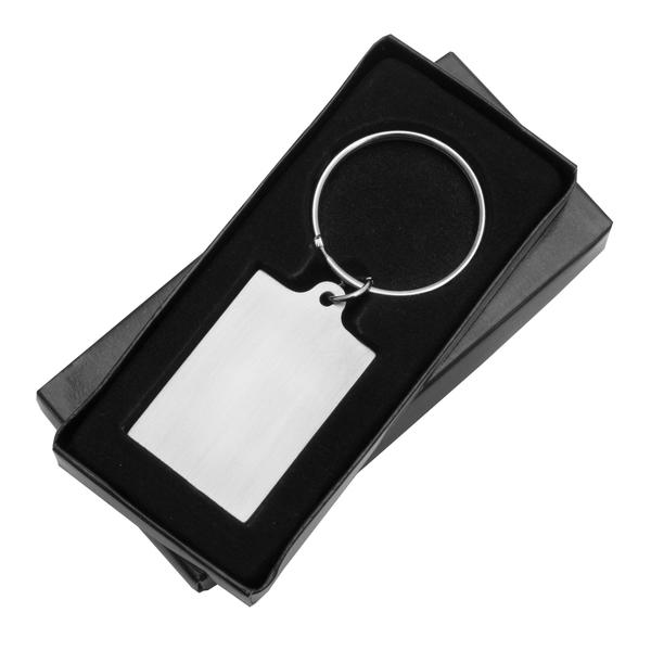 Brelok metalowy Visibile, srebrny