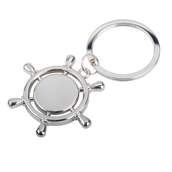 Brelok metalowy Steering Wheel, srebrny