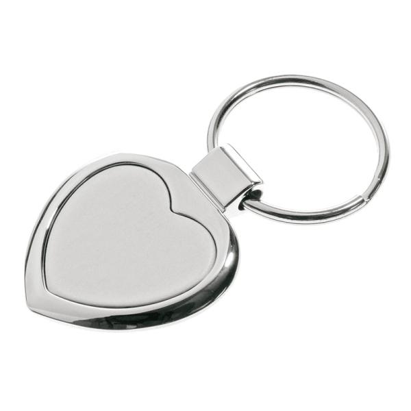 Brelok metalowy Stout Heart, srebrny
