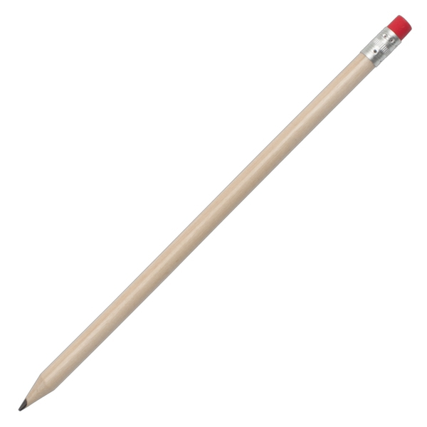 Ołówek z gumką, niebieski/ecru