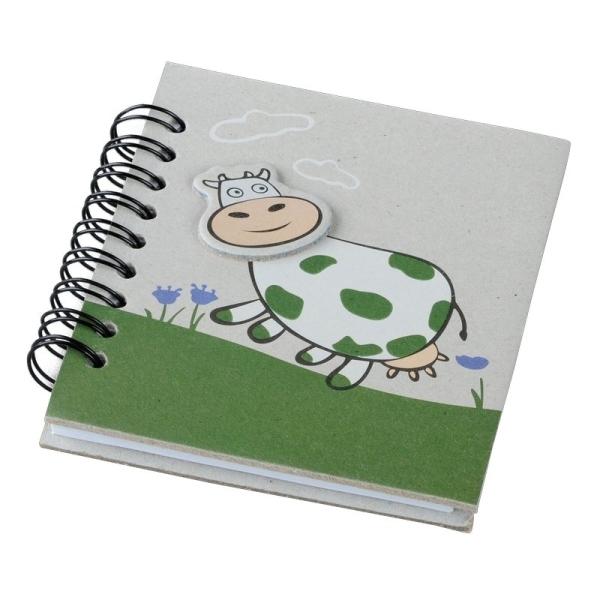 Notes 87x97/50k linia Funny Cow, zielony/szary