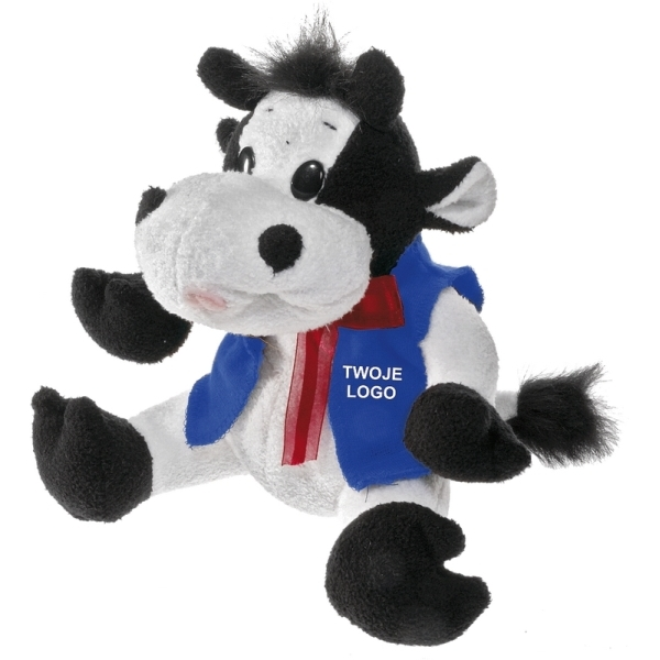 Maskotka Cow, biały