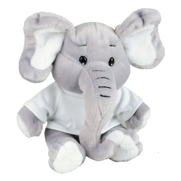 Maskotka Elephant, szary