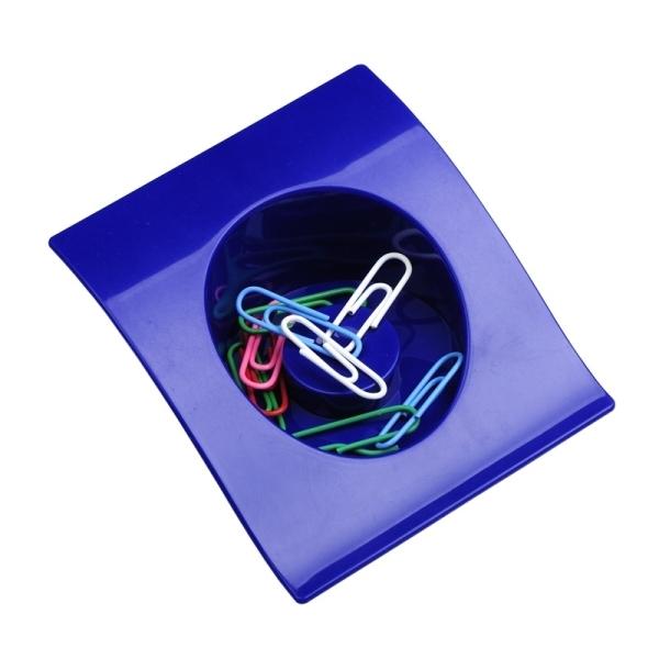 Pojemnik na spinacze Clip-It, niebieski