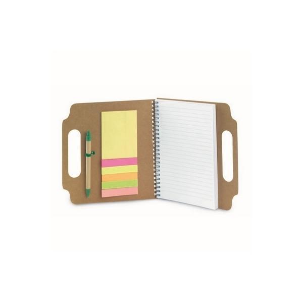 Teczka konferencyjna ok. A5 z notatnikiem, karteczki samoprzylepne, długopis