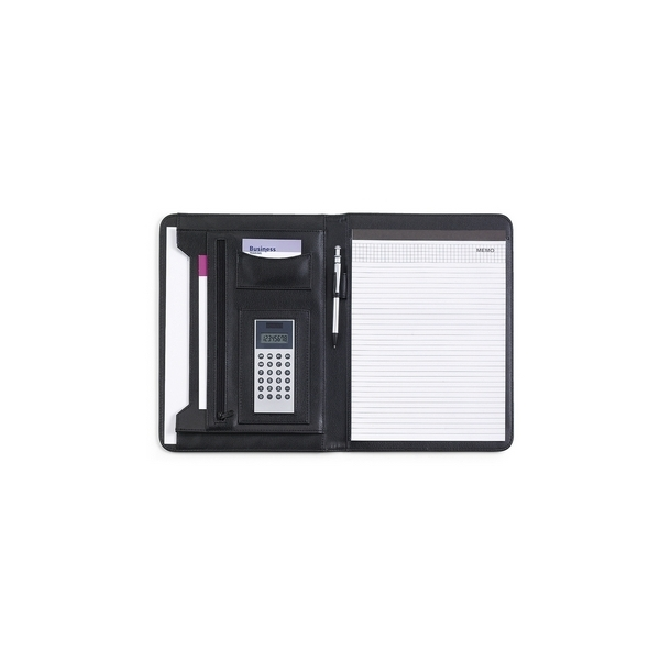 Teczka konferencyjna A4 z notatnikiem i kalkulatorem