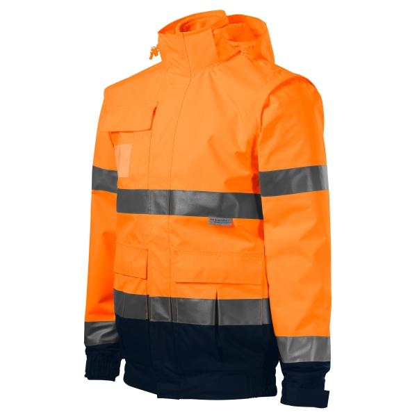 HV Guard 4 in 1 kurtka unisex fluorescencyjny