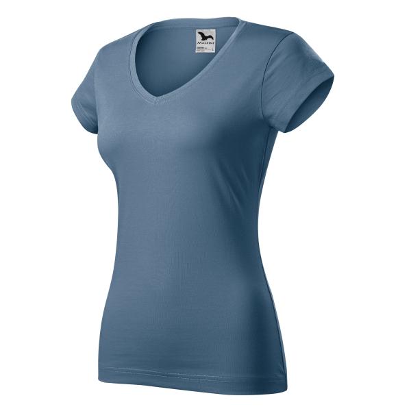 Fit V-neck koszulka damska