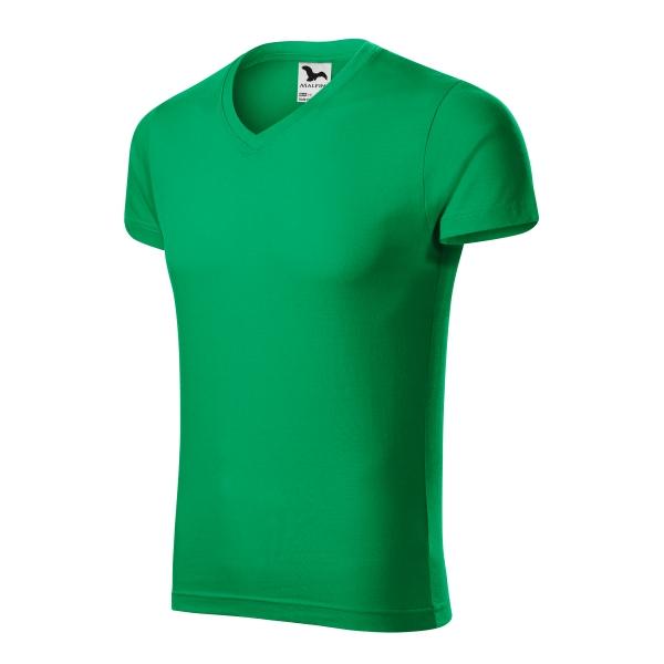 Slim Fit V-neck koszulka męska
