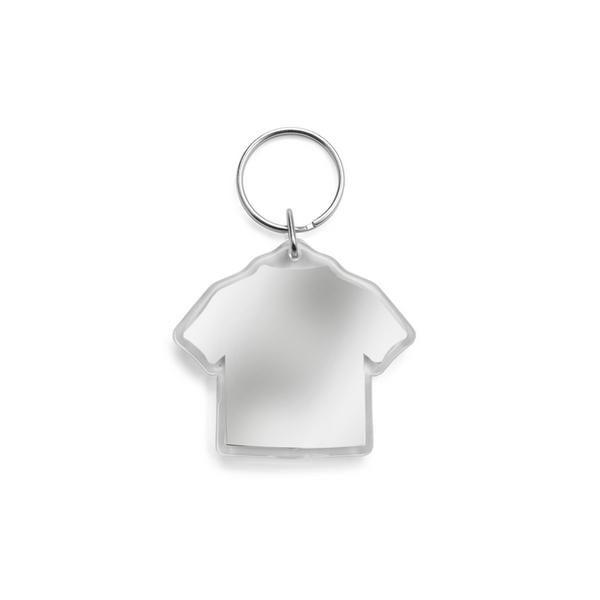 """Brelok do kluczy """"T-shirt"""" z miejscem na karteczkę z logo"""