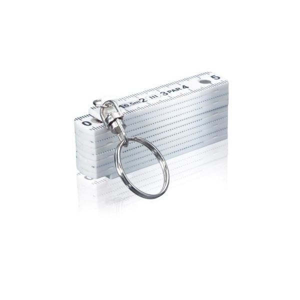 Brelok do kluczy, miara 0,5m, składana