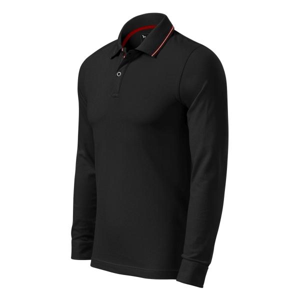 Contrast Stripe LS koszulka polo męska