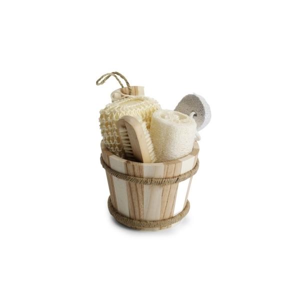 Zestaw łazienkowy, gąbka, sizal, szczotka do czyszczenia paznokci, pumeks