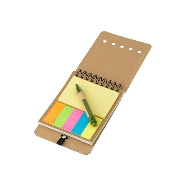 Zestaw do notatek, notatnik ok. A6, karteczki samoprzylepne, długopis