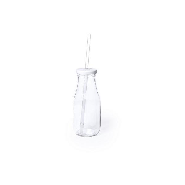 Butelka do picia 320 ml, słomka