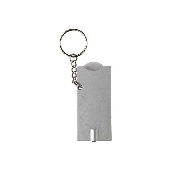 Brelok do kluczy, żeton do wózka na zakupy, lampka LED