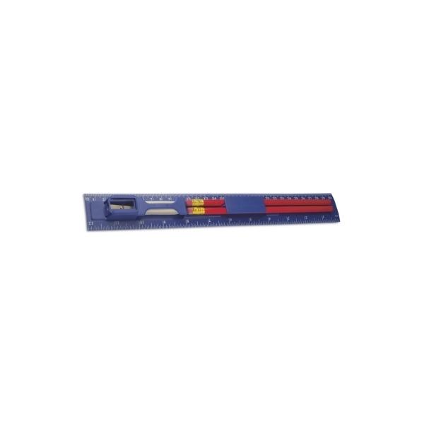 Linijka, 2 ołówki, temperówka, gumka