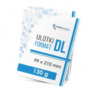 Ulotki DL (99x210mm) 130g