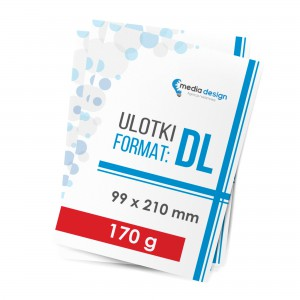 Ulotki DL (99x210mm) 170g